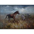 Лошадь и волки